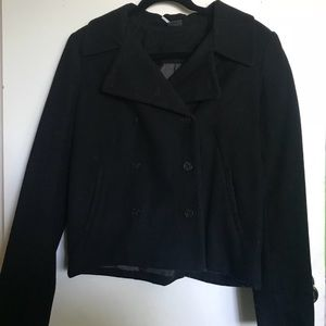 Urban Outfitters Brand Sparkle and Fade Black Coat